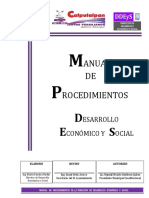 Manual de Procedimientos Desarrollo ECO y SOC 2017-2021 Definitivo