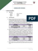 Liquidacion Tecnica