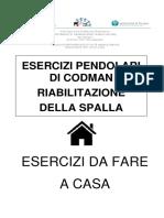 Libretto Informativo Per Esercizi Pendolari Di Codman Riabilitazione