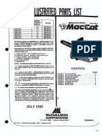 Mcculloch Parts List 223344