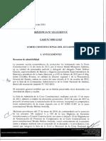 Extra Petita Corte Constitucional Ecuador