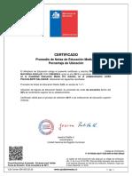 Certificado Enseñansa Media