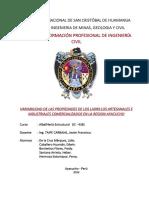 VARIABILIDAD DE LAS PROPIEDADES DE LOS LADRILLOS ARTESANALES E INDUSTRIALES COMERCIALIZADOS EN LA REGION AYACUCHO