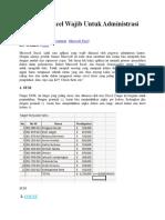 11 Rumus Excel Wajib Untuk Administrasi Perkantoran