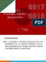 Fonología Tema 2.1 _Fonología y Fonética_. Aproximación