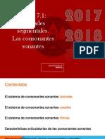 Fonología Tema 7.1 _Unidades Segmentales_. Las Consonantes Sonantes