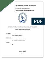 Metodo Portal y Metodo de Viga en Voladizo