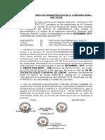 Acta Del Consejo de Administración de La Comisaria Sectorial Pnp Cangallo Boleta Marzo