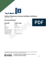 CDI 2 Self-Report Assessment Report_SAMPLE
