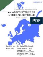 Géopolitique de l'Europe Centrale