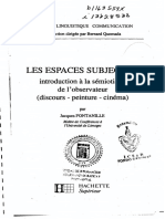 Jacques Fontanille Les espaces subjectifs introduction à la sémiotique de l_observation