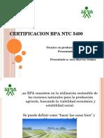 Certificacion Bpa Ntc 5400