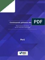 Peru Construyendo Gobiernos Efectivos Resumenes Ejecutivos Informes Nacionales