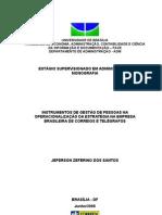 INSTRUMENTOS DE GESTÃO DE PESSOAS NA OPERACIONALIZAÇÃO DA ESTRATÉGIA