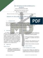 Informe Mecanica de Materiales Acceros y Maderas A tencion