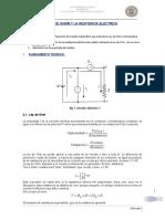 LAB N°5(LEY DE OHMM Y LA RESISTENCIA ELECTRICA )