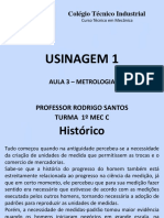 Aula 3 Usinagem - Metrologia