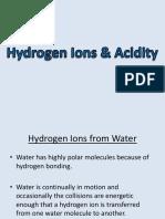2 hydrogen ions   acidity