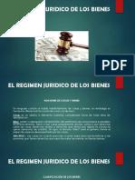 El Regimen Juridico de Los Bienes