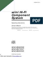 MHC-DX9