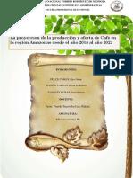 Proyección de La Producción y Oferta de Café en El Departamento de Amazonas