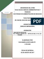 Carpetilla Código Laboral Panameño Elsa Acosta Moltó