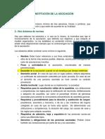 Constitución de La Asociación