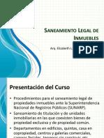 Saneamiento Legal de Inmuebles