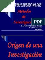 Origen de Investigaciòn