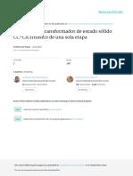 Topología de Transformador de Estado Sólido CC-CA Trifásico de Una Sola Etapa