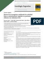 Efectos de Un Programa Combinado de Actividadfísica y Entrenamiento Cognitivo