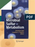 Microbial Sulfur Metabolism