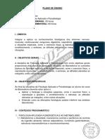 Plano de Ensino - Fisiologia Aplicada e Psicobiologia