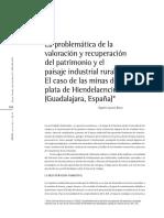 La problemática de la valoración y recuperación del patrimonio y el paisaje industrial rural. El caso de las minas de plata de Hiendelaencina (Guadalajara, España)