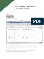 Aprende a Crear Tus Cuentas T Para Llevar La Contabilidad Con Hojas de Cálculo PDF