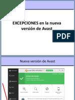 Anexo 02 - Excepciones Nueva Version AVAST