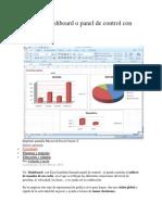 Como Crear Un Dashboard o Panel de Control Con Excel PDF