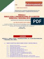 Módulo i.- Marco Legal-Org. Gestión Municipal-regional