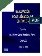 Evaluación Post Sísmica