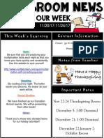 weekly newsletter  powerpoint  20-24