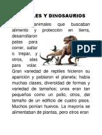 Reptiles y Dinosaurios