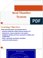 2. Real Number System