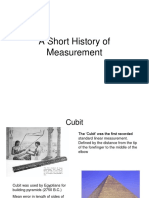 History of Measurements