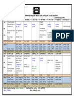 Tahiti Rugby Tour 2018 Draft Itinerary Overview - 2 Week Option 1