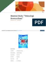 Tianfepk Blogs Uny Ac Id 2017-09-22 Resensi Buku Teknologi k