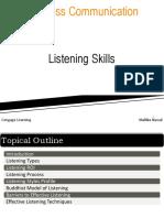 Chapter 5 - Listening Skills
