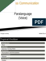 Chapter 4 - Paralanguage (Voice)