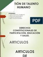 Derechos Constitucionales de Participación Educación y Salud