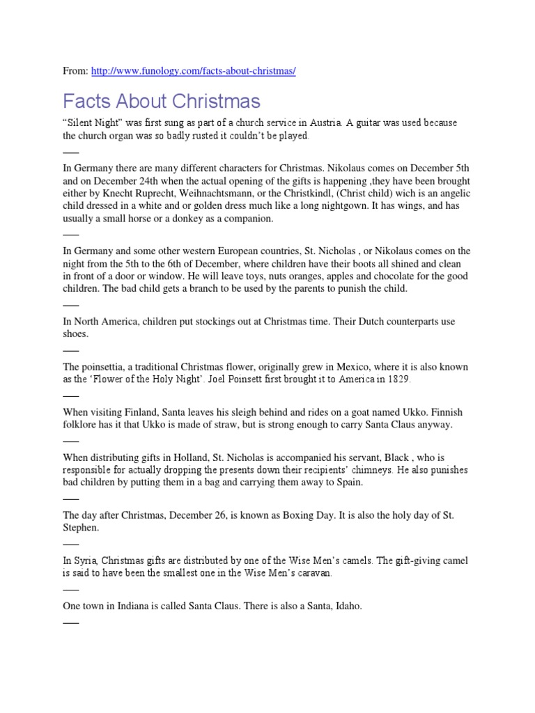 facts about christmas christmas santa claus