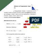 Definición de Programación Lineal